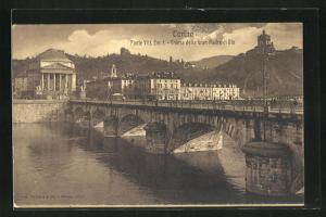 AK Torino, Ponte Vitt. Em.I.-Chiesa della Gran Madre di Dio