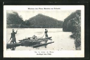 AK Archipel des Fidji, Sur la rivieré de Rewa