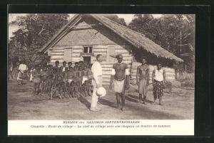 AK Ozeanien, Mission des Salomon Septentrionales, Chapelle, Ecole de vittage