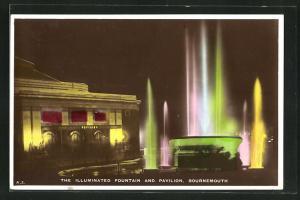 AK Bournemouth, The Illuminated Fountain and Pavilion