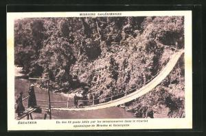 AK Ecuador, un des 12 ponts batis par les missionnaires dans le vicariat apostolique de Mendez et Galacquiza