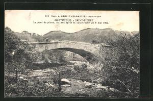 AK Saint-Pierre, Le pont de pierre, six ans apres la catastrophe du 8 mai 1902