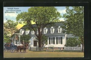 AK Williamsburg, VA, Raleigh Tavern and Colonial Coach