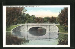 AK Providence, RI, Arch Bridge, Roger Williams Park