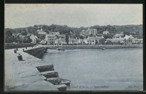 AK Saint-Aubin`s / Island of Jersey, Panorama vom Quai