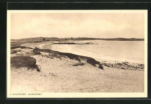 AK Guernsey, l'Ancresse, Strandansicht