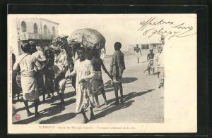 AK Djibouti, Scene de Mariage Somalis, Transport solennel de la dot