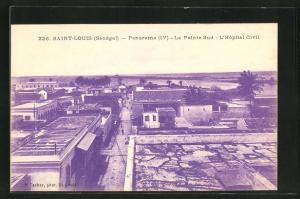 AK Saint Louis, Panorama, la Pointe Sud, l`Hopital Civil