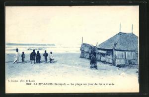 AK Saint Louis, La Plage un jour de forte maree