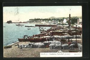 AK Funchal auf Madeira, Partie am Hafen