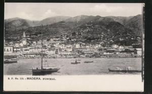 AK Funchal auf Madeira, Ortsansicht aus der Ferne