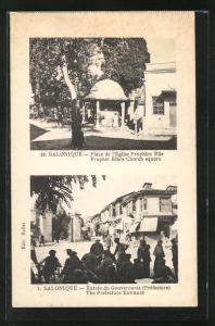 AK Salonique, Place de l`Eglise Prophète Elie, Entrèe du Gouvernorat