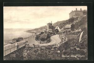 AK Ventnor /Isle of Wight, Teilansicht des Ortes