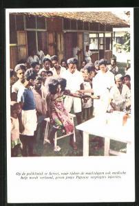 AK Suriname, op de polikliniek te Seroei waar tijdens de marktdagen ook medische hulp wordt verleend