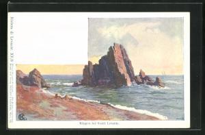 Künstler-AK Edward Harrison Compton: Sestri Levante, Blick zu den Klippen, Verlag Philipp + Kramer Nr. XV /3