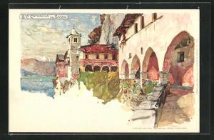 Künstler-Lithographie Manuel Wielandt: Sta Caterina del Sasso