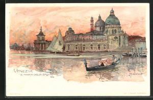 Künstler-Lithographie Manuel Wielandt: Venezia / Venedig, S. Maria della Salute