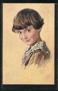 Künstler-AK Maxim Trübe: Kinderportrait Knabe