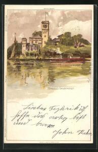 Künstler-AK Carl Biese: Fährhaus Uhlenhorst
