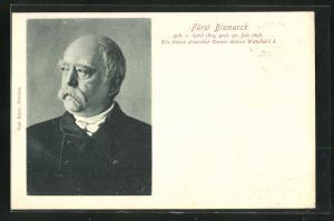 AK Fürst Bismarck im Porträt, Ein treuer deutscher Diener Kaiser Wilhelms I.