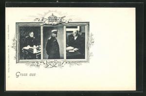 AK Alter Kurs, Fürst Bismarck, Kaiser Wilhelm I. und Moltke