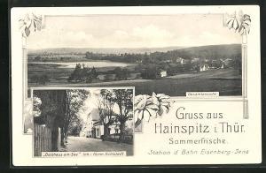 AK Hainspitz i. Thür., Gasthaus am See, Gesamtansicht