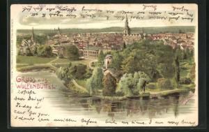 Künstler-AK Erwin Spindler: Wolfenbüttel, Gesamtansicht