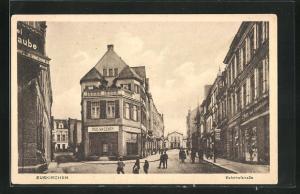 AK Euskirchen, Bahnhofstrasse mit Geschäften, Einkaufshaus