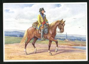 Künstler-AK R. Trache: Kursächsischer Postillion um 1790 PP122 E6 /03