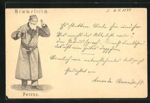 Vorläufer-AK Bad Kösen, 1880, Berggaststätte Himmelreich - Petrus
