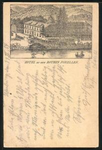 Vorläufer-AK Ilsenburg, 1887, Hotel zu den Rothen Forellen