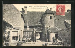 AK Milly, Hotellerie du Lion d'Or ou descendait Henri IV