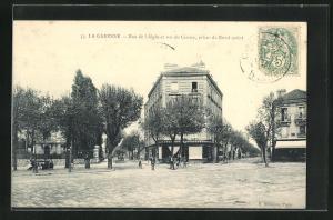 AK La Garenne, Rue de l'Aigle et rue du Centre, prises du Rond-Point