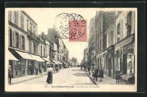 AK Levallois-Perret, La Rue de Courcelles
