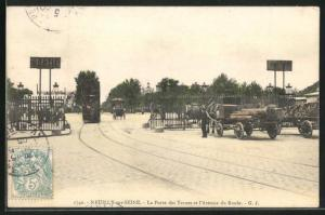 AK Neuilly-sur-Seine, La Porte des Ternes et l`Avenue du Roule