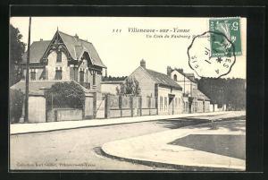 AK Villeneuve-sur-Yonne, Un Coin du Faubourg St-Nicolas