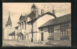 AK St-Martin-sur-Ouanne, Mairie et Ecoles