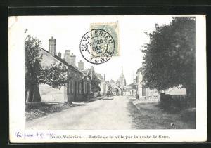 AK Saint-Valerien, Entree de la Ville par la route de Sens