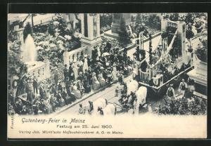 AK Mainz, Gutenberg-Feier 1900, Festzug