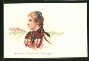 Lithographie Schwäb. Volkstracht, Betzingen