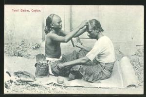 AK Ceylon, Tamil Barber, Barbier auf Sri Lanka