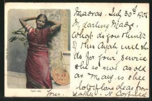 AK Tamil lady, singhalesische Dame