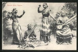 AK Ceylon, Nautch Girls, singhalesische Tänzerinnen
