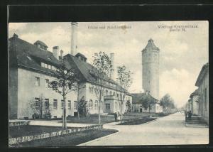 AK Berlin-Wedding, Virchow-Krankenhaus, Küche und Maschinenhaus, Wasserturm