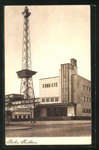 AK Berlin-Charlottenburg, Cafe Funk-Eck und Funkturm