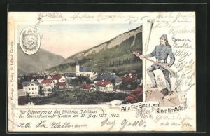 AK Goisern, 25 jähr. Jubiläum der Stammfeuerwehr 1877-1902