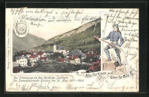 AK Goisern, 25 jähr. Jubiläum der Stammfeuerwehr 31. Aug. 1902
