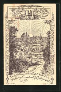 Künstler-AK Hans Prentzel: Rothenburg o. Tbr., 750 Jahr-Feuer, Ganzsache PP52 C6
