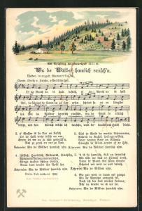 Lied-AK Anton Günther Nr. 30: Wu de Wälder hamlich rausch`n, Text u. Noten, Am Spitzberg