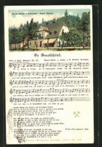 Lied-AK Anton Günther Nr. 25: Da Draakschänk, Text und Noten